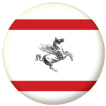Tuscany Flag 58mm Button Badge